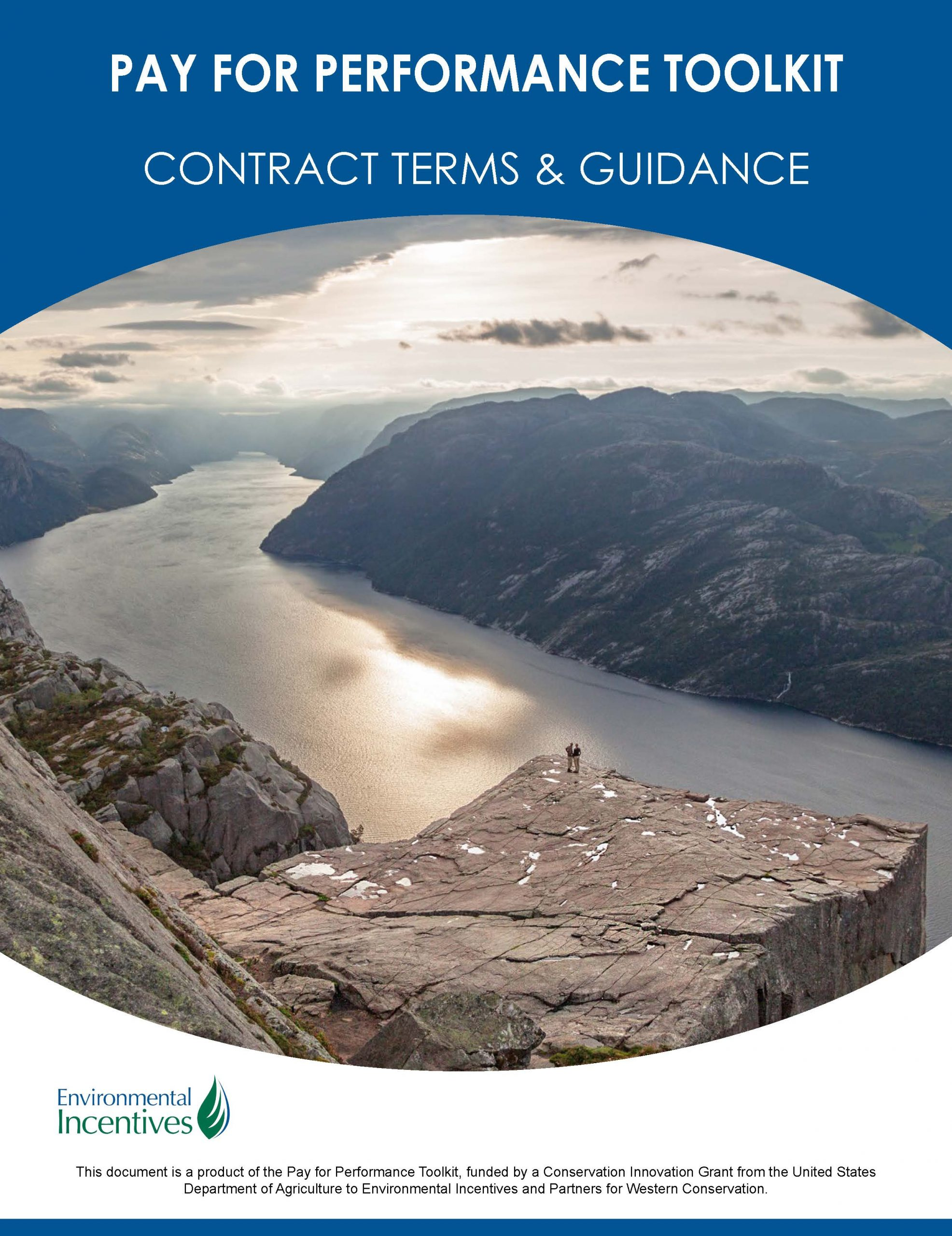Pay for performance toolkit - contract terms and guidance